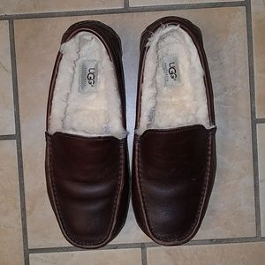 Ugg Ascot Dark Brown Mens Slippers